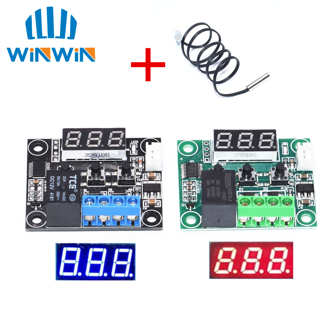W1209 Dc 12v Led Digital Thermostat Temperature Control Thermometer Thermo Controller Switch Module 3d Printer Parts & Accessories Ntc Sensor