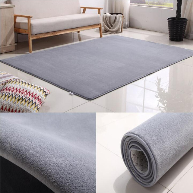 Ultra Soft Thick Memory Foam Absorbent Coral Fleece Fabric Area Rugs ...