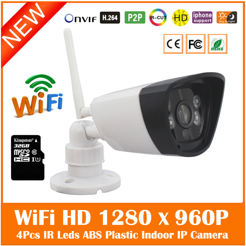 Hd 960p Wi Fi Bullet Ip Camera Built-in 32g Micro Sd/tf Card Surveillance Security Webcam Infrared Cmos Cctv Freeshipping Hot bullet camera tube camera headset holder with varied size in diameter