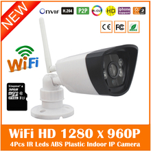 Hd 960p Wi Fi Bullet Ip Camera Built-in 32g Micro Sd/tf Card Surveillance Security Webcam Infrared Cmos Cctv Freeshipping Hot