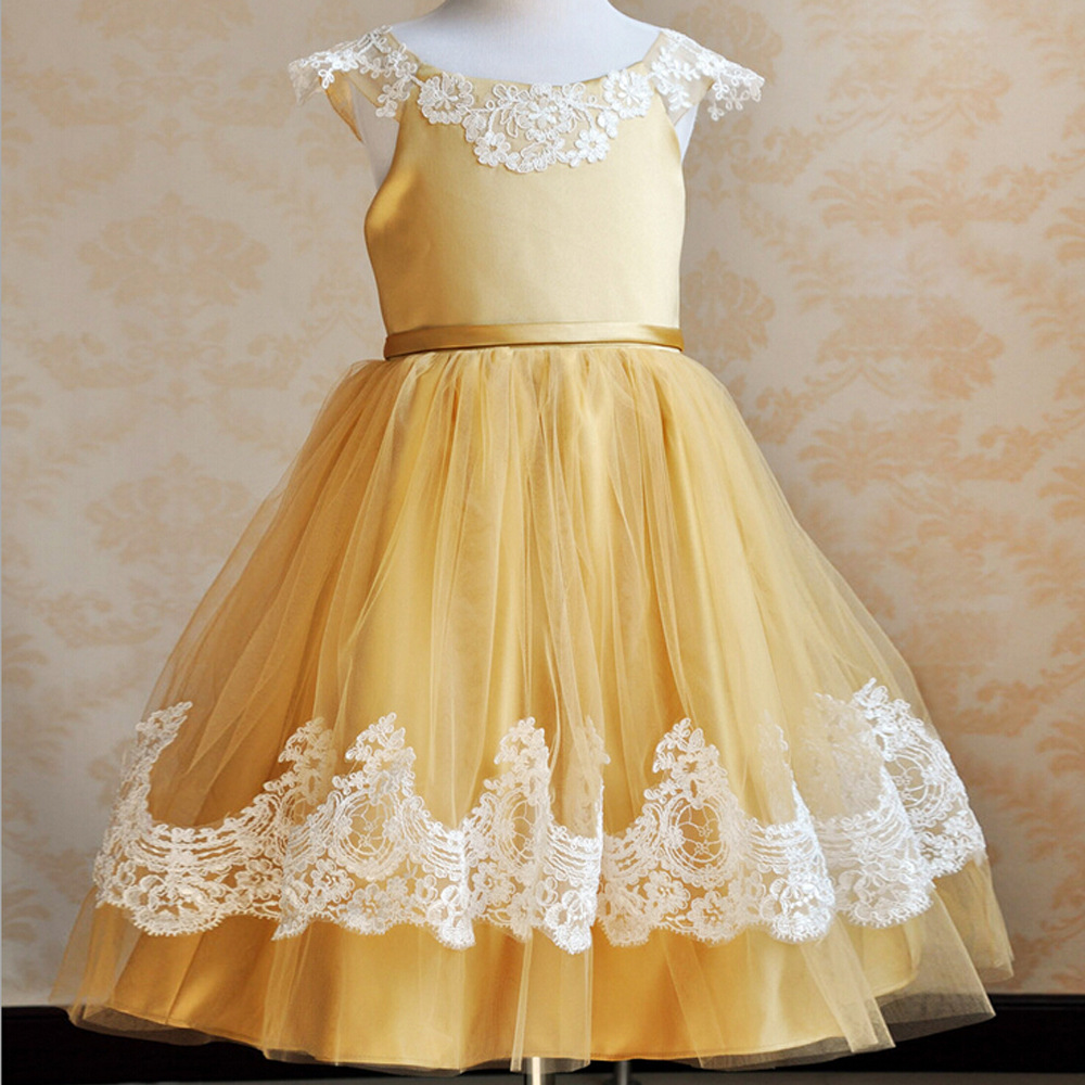 2015 New Arrival Little Girl Ball Gown Scoop Appliqued Glitz Pageant