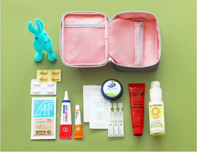 Rectangle Medical Kit First Aid Pouch Red Medicine Storage Bag Travelling Storage Box Medicine Case Tools Storage bags