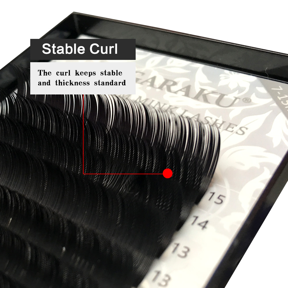 Image 3 - NAGARAKU  10 Trays/set 7 15mm Mixed In One Tray Eyelash Extension Individual eyelashes Mink Eyelash False eyelash Make up Tool-in False Eyelashes from Beauty & Health