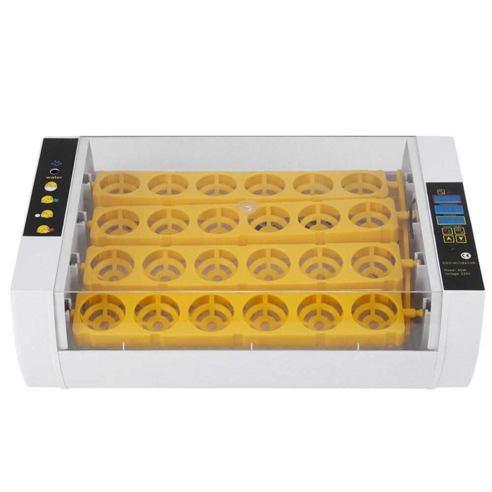 24 卵インキュベーター 60 ワットのデジタル温度制御自動鶏ひよこアヒルハッチャー鶏アヒルガチョウ EU/米国/ AU  グループ上の ホーム&ガーデン からの 給餌 & 給水用品 の中 2