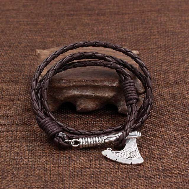 Punk Axe Charm Wrap Leather...