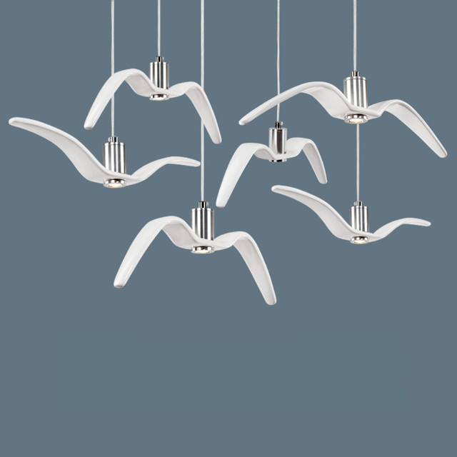 Night birds creative white led resin pendant lights sky freedom night birds creative white led resin pendant lights sky freedom bird flight charm unprecedented dynamism seagull mozeypictures Images