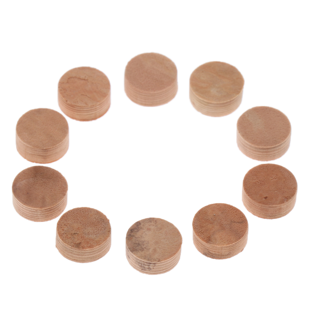 Set of 10 Round Trumpets Cornet Water Key Spit Value Cork Pads Dia 10mm Brass Instrument Accessory in Brass Parts Accessories from Sports Entertainment