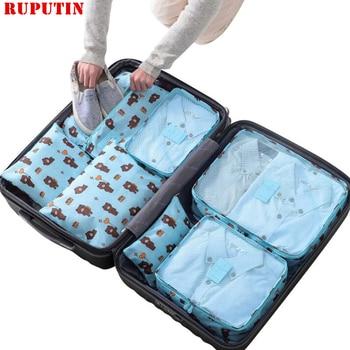 RUPUTIN 7Pcs/set Trip Luggage Organizer Clothes Finishing Kit Waterproof Project Packing Storage Bag High Quality Travel - sale item Travel Bags