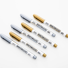36 pcs/Lot Metallic craftwork marker pen Gold Silver color signature pen drawing writing on ceramic cloth School supplies FB931
