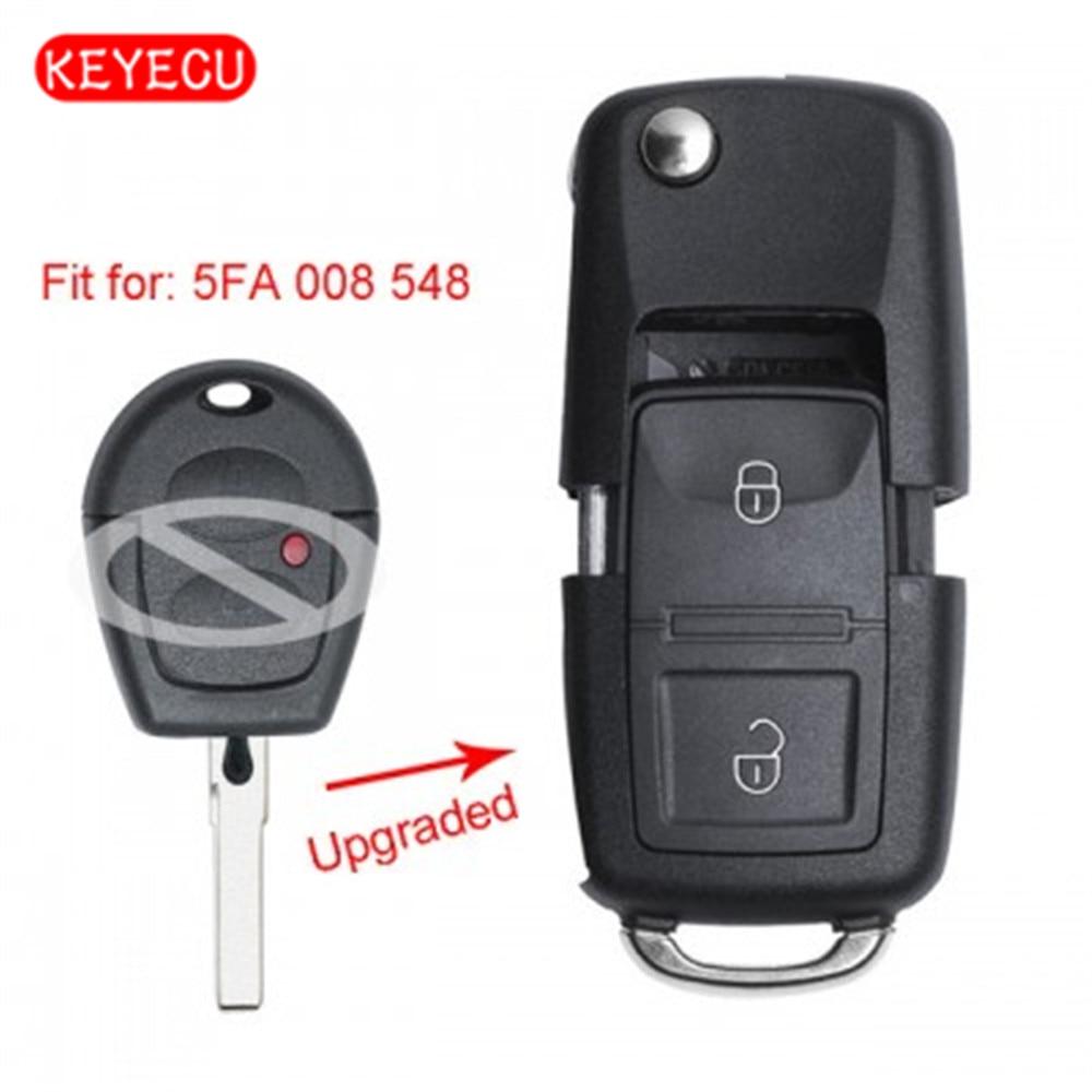 Keyecu Upgraded Flip Remote Car Key Fob 433MHz ID48 For Seat Ibiza Cordoba Arosa Leon 2002-2009 P/N: 5FA 008 548