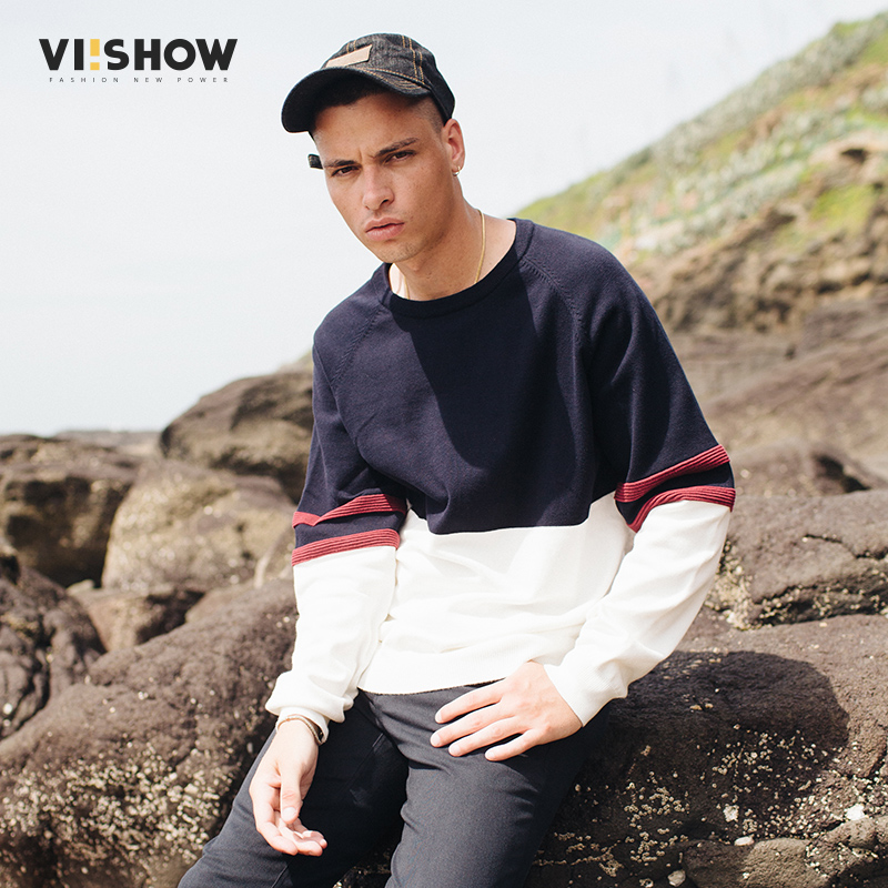 VIISHOW Autumn Sweater Men Pullovers Brands Fashion Casual Striped Mens Knitted Sweaters ...