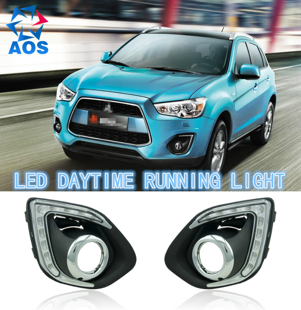 2PCs/set turning light signal Super Bright LED DRL Daylight Daytime Running lights For MITSUBISHI ASX 2013-2016 fog lamps bulb 10piece 100% new alw qfn chipset