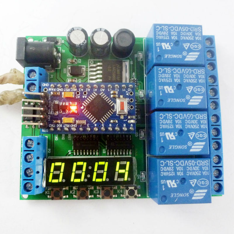 DC 12V 24V 4ch Pro mini PLC Board Relay Shield Module for Arduino diy LED Display Cycle Delay