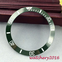 Moda luminous marcas 38mm inserção verde ceramic bezel assista ajuste automático dos homens assista bezel|bezel insert|bezel insert watch|bezel watch -