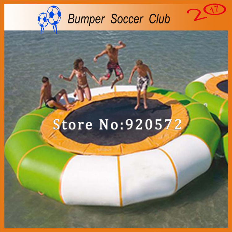 Free Shipping! Free Pump ! Sport Water Games Dia 3m Inflatable Water Jumping Trampoline/Inflatable Water Jumping Bed For Sale wb006 free shipping funny water games inflatable water balls walk water inflatable roller ball summer water games