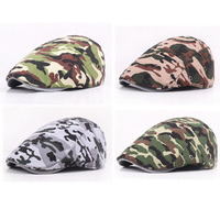 Men Women Camo Military Ivy Flat Hat Combat Camouflage Casquette Army Peaked Cap HATCS0111