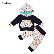 Toddler Baby Boys Girl Clothes Set Autumn Spring Long Sleeve Hoodie Tops+Long Pants Leggings 2Pcs Outfits Set Clothes