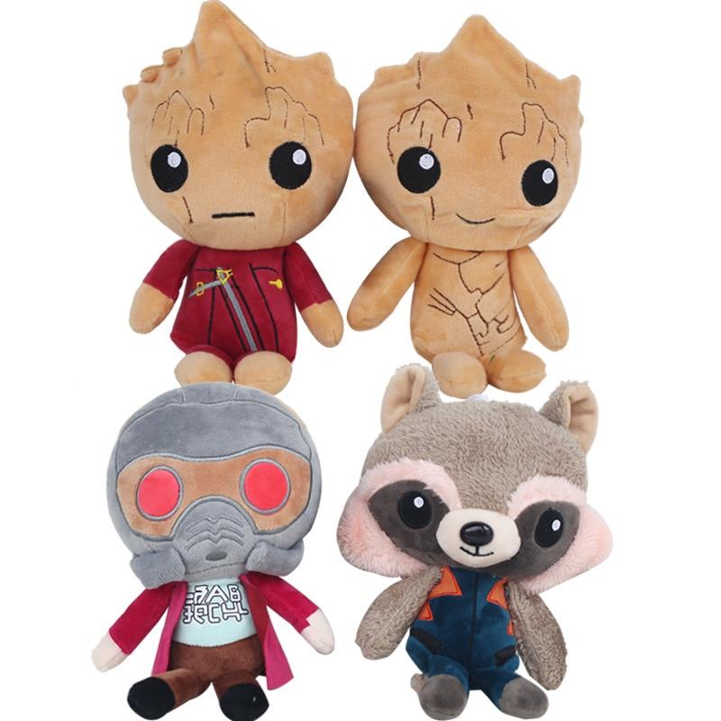 4 pcs lot Guardians of the Galaxy 2 Plush doll toy 22cm Soft Plush Rocket Raccoon