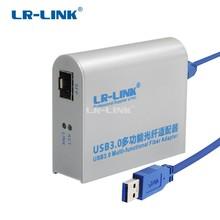 LR LINK 3210PF SFP 3.0 Gigabit Ethernet Adapter USB 1000 Mb De Fibra Óptica Placa de Rede Lan Adapter Realtek RTL8153