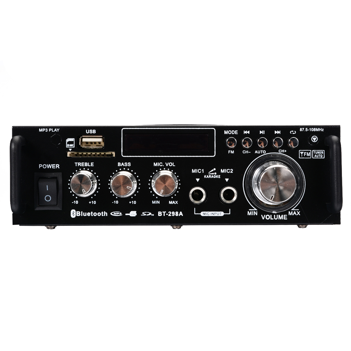 600W 2CH Bluetooth Stereo Digital Power Amplifier AMP USB SD FM Stereo Radio For Car Home Theater Amplifiers