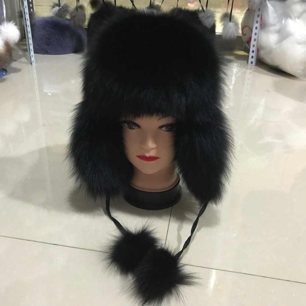 7ca57e11526 ... 2017 100% fashion new style winter Russian natural real fox fur hat hot  sale women ...