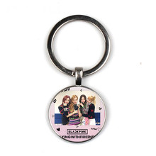 Blackpink Korean women's group exquisite time glass silver keychain fashion bag car key chain handmade photo(China)