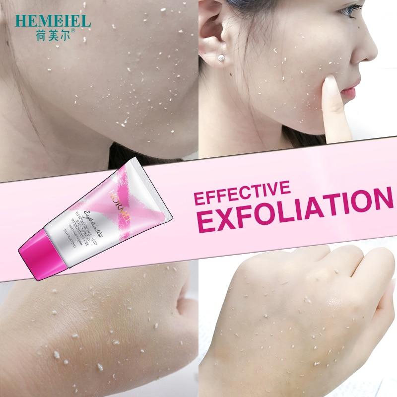 HEMEIEL Exfoliating Peeling Gel Deep Clean Hyaluronic Acid Smoothen Facial Scrub Gel Polish Acne Blackhead Remove Face Cleanser 2