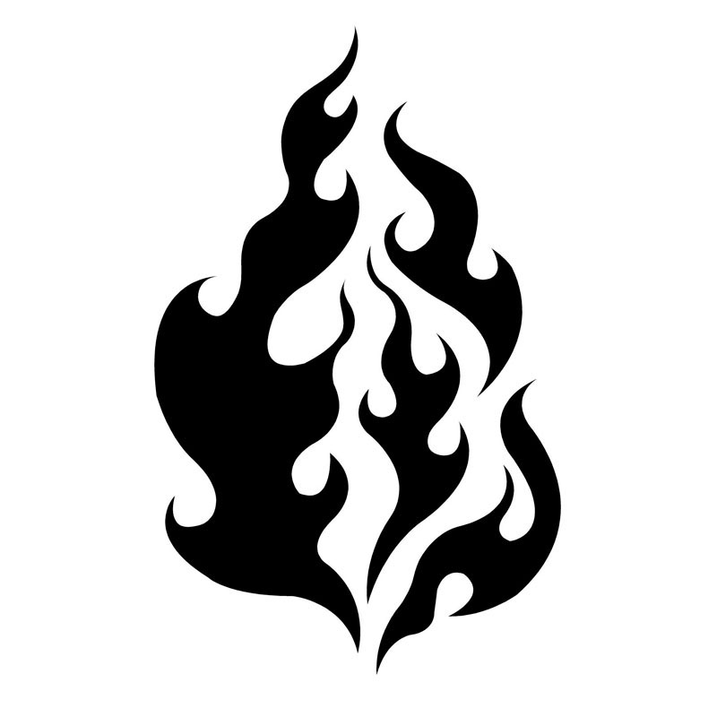 9.5*15CM Flame Car Sticker Decorative Element Motorcycle Flame Stickers Car Styling Accessories C2-0416
