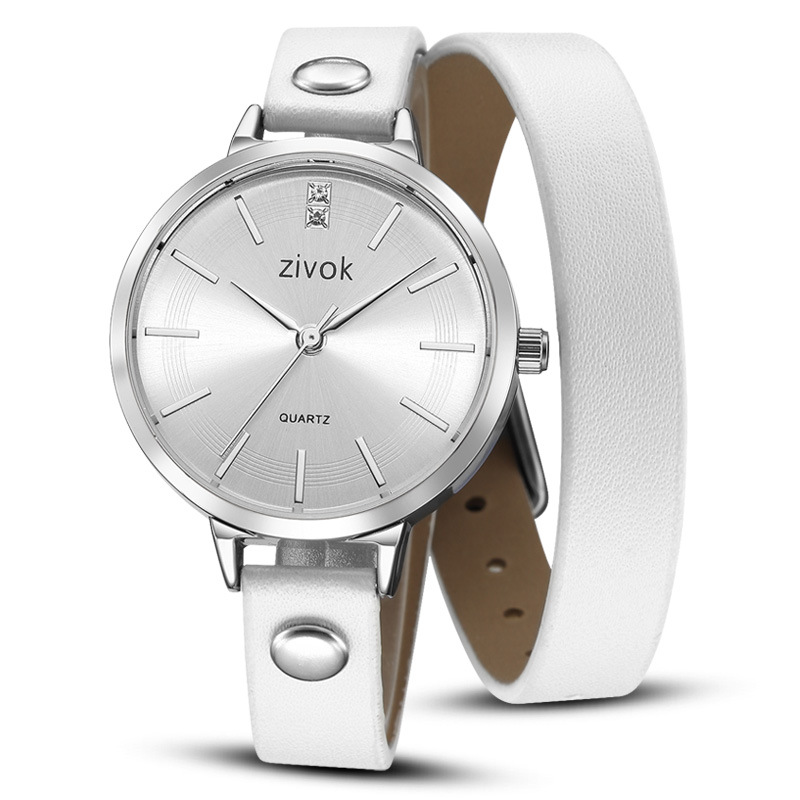 ZIVOK Women Watches Quartz Wristwatches Fashion Cross-border Retro Leather Band Bracelet Watches For Women Ladies Watch