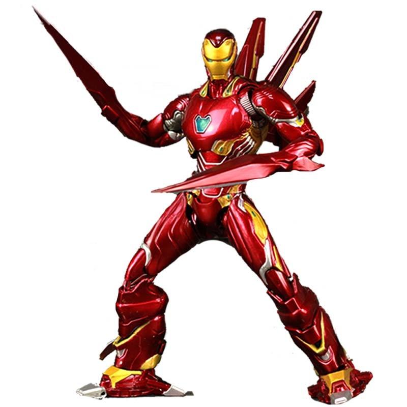 Avengers 4 EndgamDouble épée fer homme MK85 repeint personnalisé figurine Ironman marque 85 KOs SHF Nano armure enfant jouets