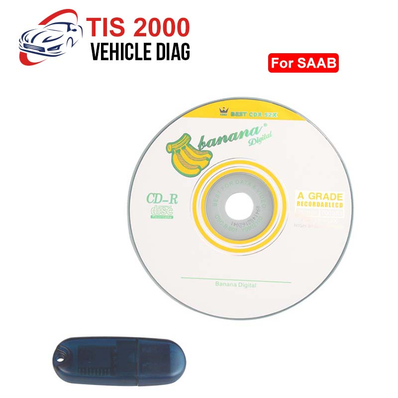 TIS2000 With USB KEY For GM For Opel For SAAB  Work With Tech2 Car Model TIS 2000 Software USB Dongle