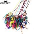 GAGAFEEL Declaración Collar de Gargantilla En El Cuello de Boho de La Pluma Collare Femme Colgante Cadena de Joyería Para Las Mujeres Regalo para La Amistad