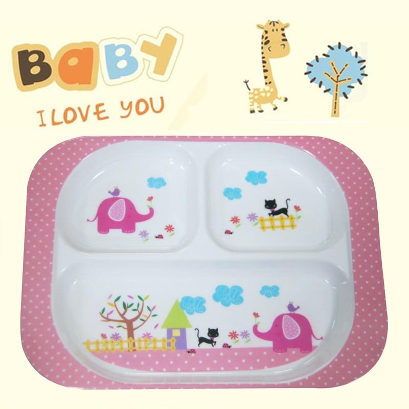 Высокое качество Детские Дети Безопасный Кормление Посуда зоопарк животных меламин Миски Детские тарелка детская Посуда обеденный стол
