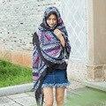 2016 Nuevo Párrafo Bufanda Mantón Largo de La Bufanda del Hilado de Bali Bufanda de Algodón Impresa Chal Bufanda Del Invierno Mujeres 180*110 cm