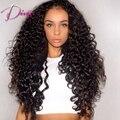 Free Shipping 26inch Long Glueless Lace Front Human Hair Wigs Black Virgin Brazilian Kinky Curl Full Lace Wigs for Black Women