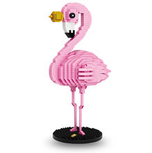 NEW Assembling Building Block Pink Flamingo model cute animal Diamond Blocks gift Desk Decoration Toy