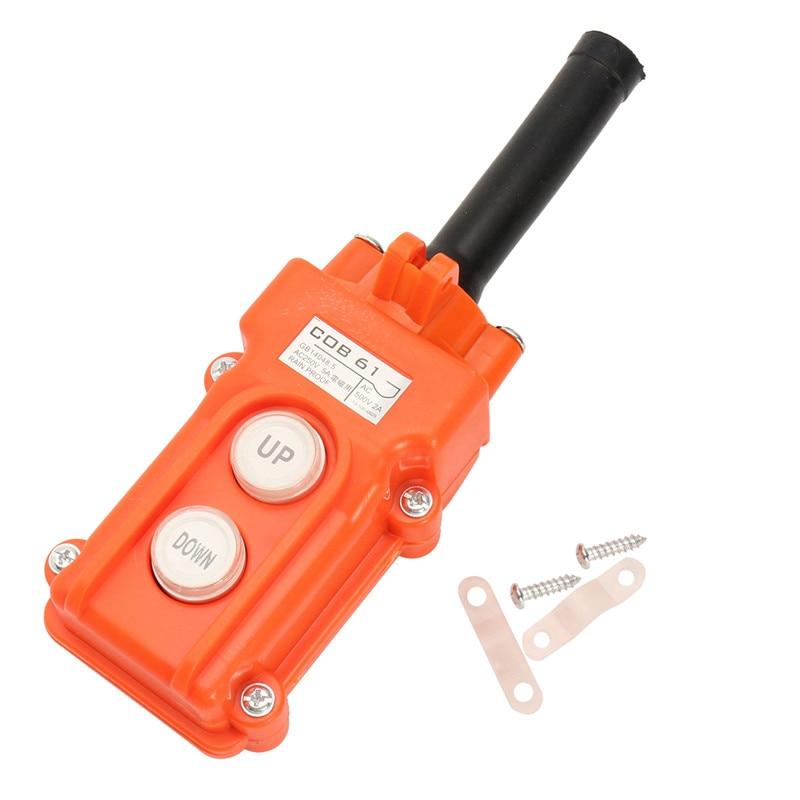 цена на COB-61 Crane Pendant Emergency Control Push button Switch For Hoist Station Up-Down Rainproof Button