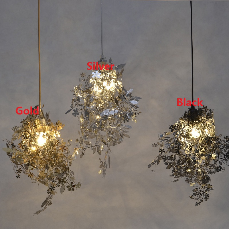 DIY Artecnica Garland Tangle Pendant Lamp Tord Boontje Design Lampen Gold Abajur Light Fixtures Hanglamp E27 Bedroom 110V 220V freywille цепочка омега