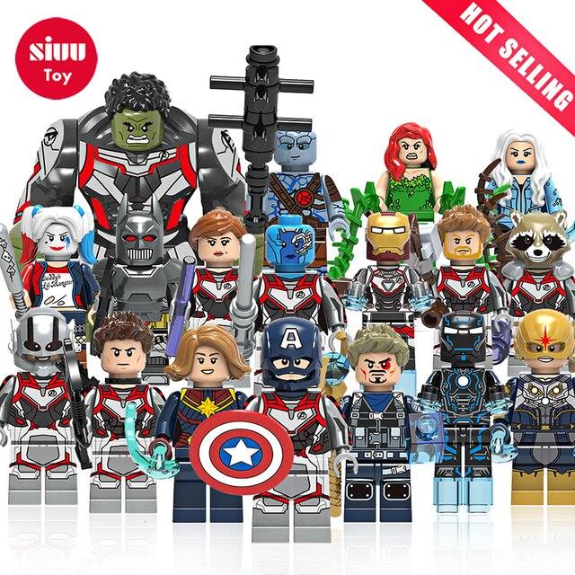 Única Venda Building Blocks Maravilhas 4 Final Do Jogo Traje Espacial Com Micro Figuras Vingadores Tony Stark Thor Hulk Hawkeye Brinquedos
