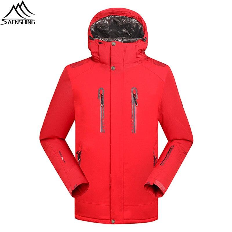 SAIGNEMENT Solide veste de ski Hommes Étanche 10000 Super Chaud Hiver Neige Manteau mâle Montagne ski et snowboard ski vêtements