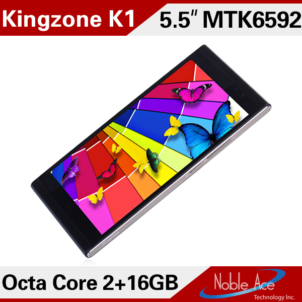 New 2014 Original Kingzone K1 MTK6592 Octa Core Smartphone Android 4.2 phone 5.5' 1920x1080 mtk6592 IPS 14MP Camera NFC WCDMA