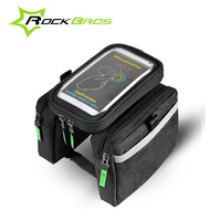 ROCKBROS Bicycle Front Bag Top Waterproof Tube Bike Pannier Double Pouch For 5 7 And 6