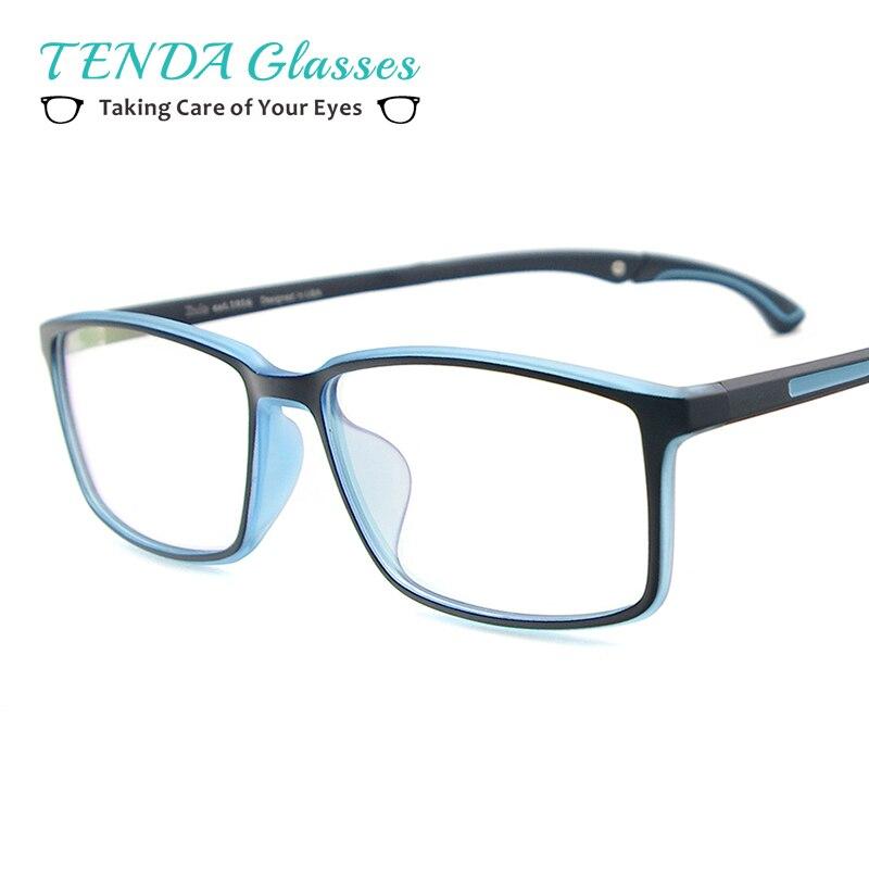 גברים ונשים קל TR90 משקפיים מלבני ספורט Eyewear מסגרת עם אנטי להחליק מחזיק עבור Multifocal קוצר ראיה עדשות