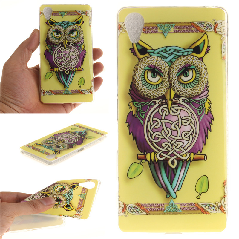 Soft TPU+IMD For Sony Xperia X Performance Case Back Cover <font><b>sex</b></font> <font><b>girl</b></font> lion tiger owl Coque Funda For Sony Xperia X Performance image