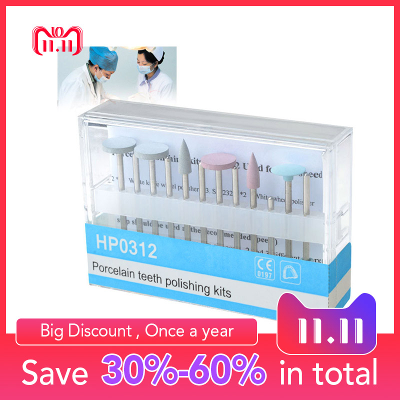 лучшая цена HP0312 Porcelain Teeth Polishing Kit Used for Dental Low-Speed Handpiece Teeth Whitening Oral Hygiene