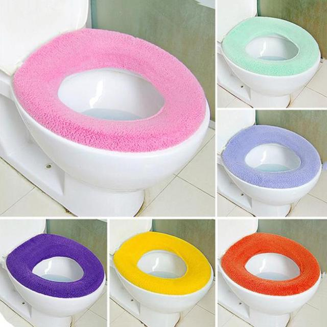 1 pz o-tipo tavolette copriwater bagno warmer panno lavabile pads morbida e conf
