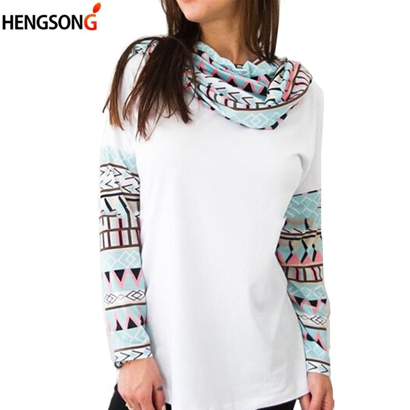 Women Hooded Hoodies Long Sleeve Printing Stitching Sweatshirt Female Ladies Tops Sportswear Pullover Autumn Tracksuits