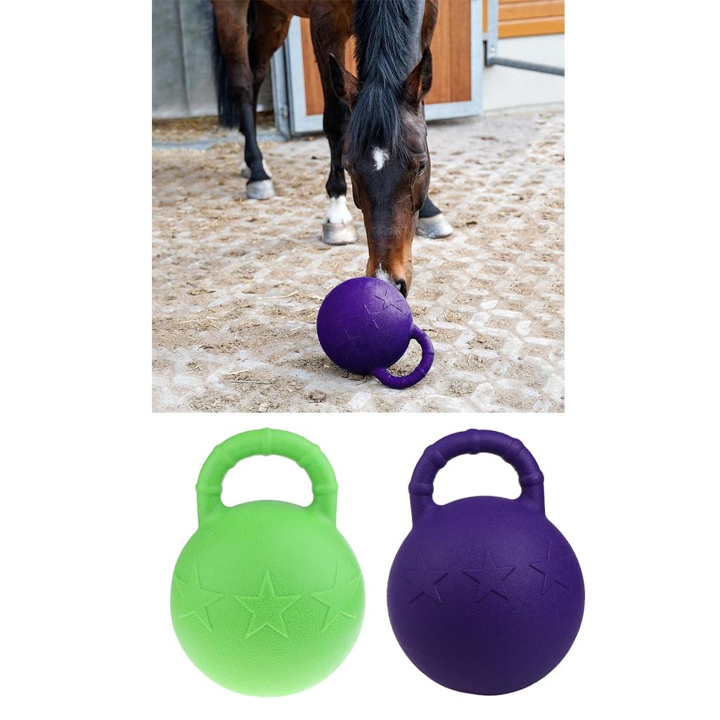 2 pièces caoutchouc équin caoutchouc Jolly Ball cheval poney jeu de football jouet jouets de terrain Stable