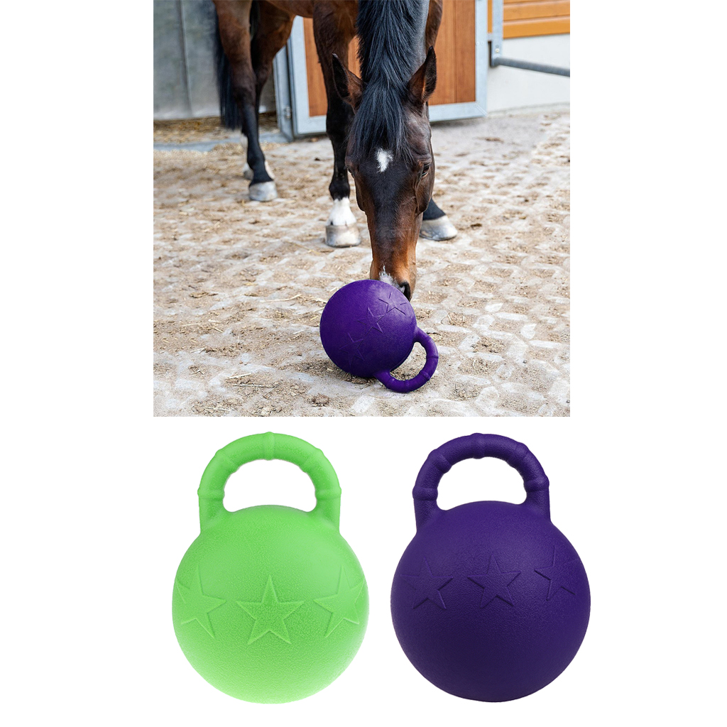 2Pcs Rubber Equine Rubber Jolly Ball Horse Pony Soccer Play Toy Stable Field Toys