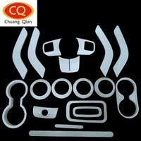 18Pcs Full Set Decoration Trim Kit Steering Wheel Trim Door Handle Cover For Jeep Wrangler JK